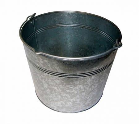 Cubo de acero galvanizado