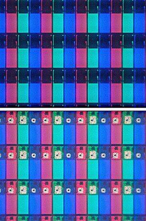 Celdas LCD-TFT al microscopio