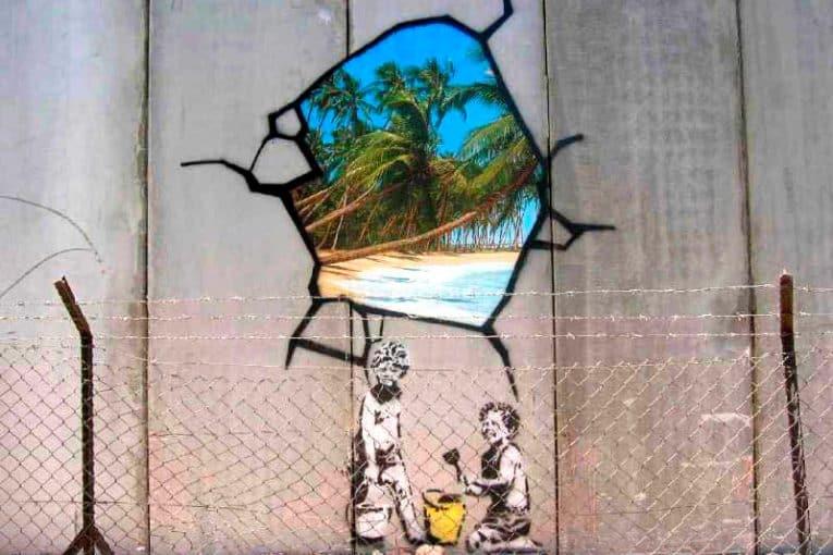 Grafiti de Banksy en Belén