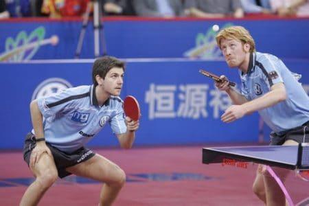 Timo Boll y Christian Suss tenis de mesa