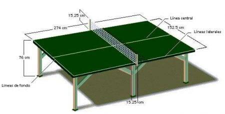 Mesa de ping pong reglamentaria