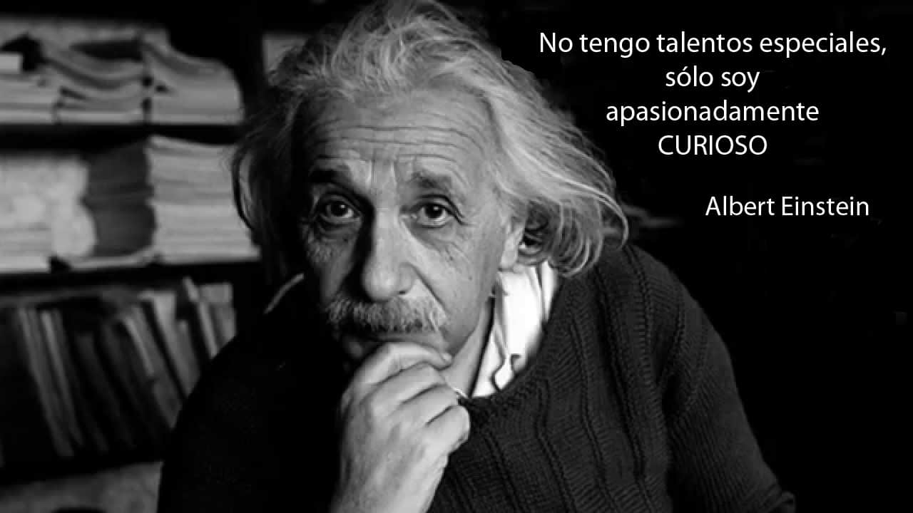 Albert Einstein: no tengo talentos especiales