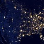 Luces de las ciudades de Estados Unidos