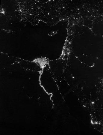 Luces en el Delta del Nilo