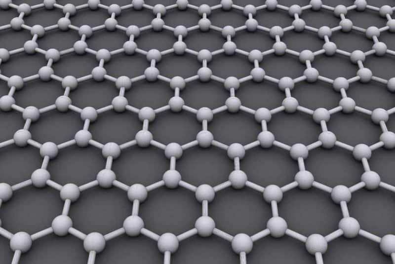 Ilustración de la molécula del grafeno