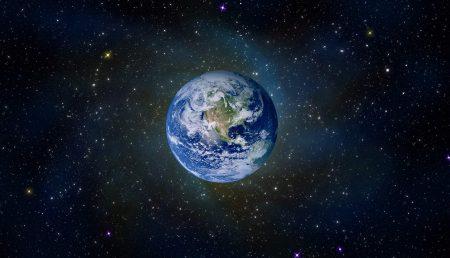 Planeta Tierra desde el espacio