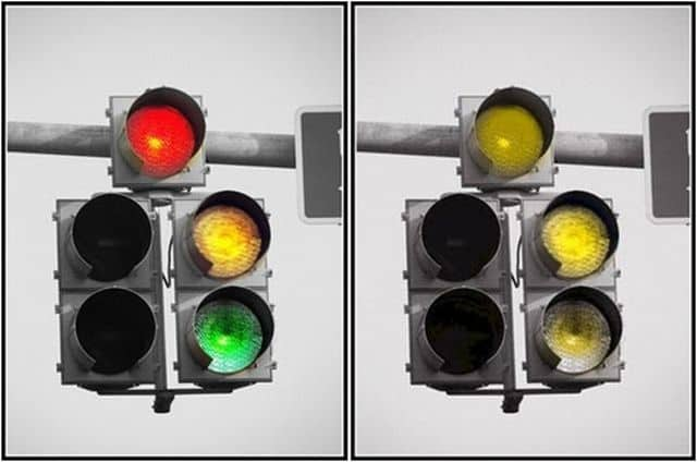 semáforo con daltonismo