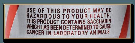 Advertencia: sacarina