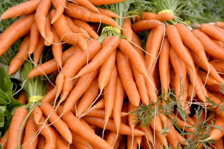 Zanahorias, fuente de beta-caroteno