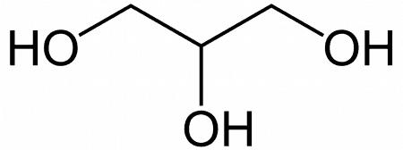 Molécula glicerol 2D