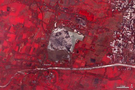 Lumpur Sidoarjo (Lusi). Vista satélite 2009