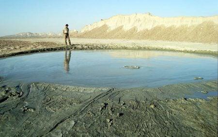 Volcán de lodo en Hormozgán (Irán)