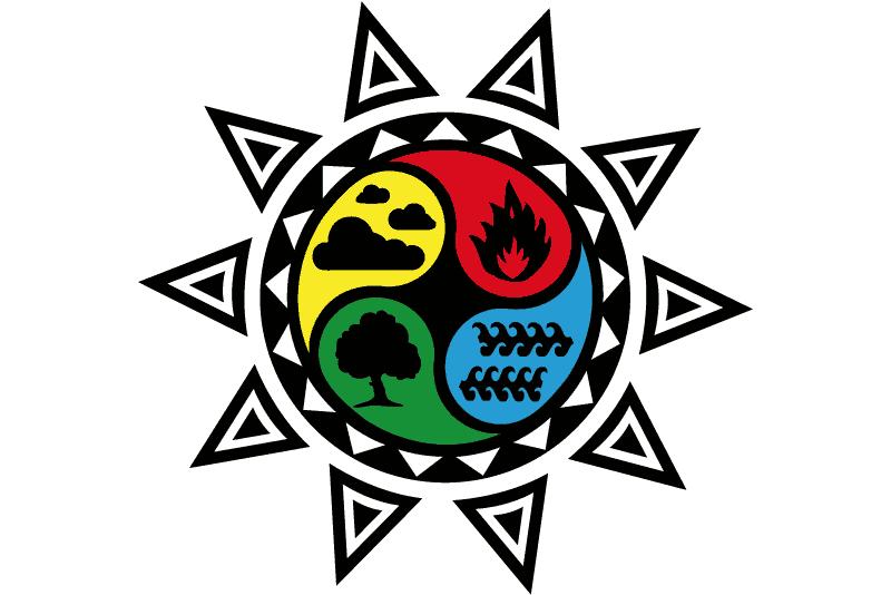 Símbolo solar de los cuatro elementos