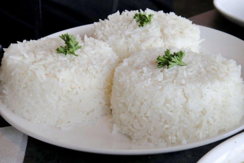 Arroz blanco cocido