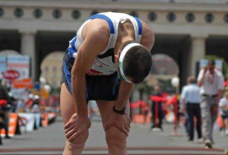 Atleta exhausto