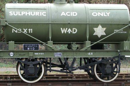Vagón de transporte de ácido sulfúrico