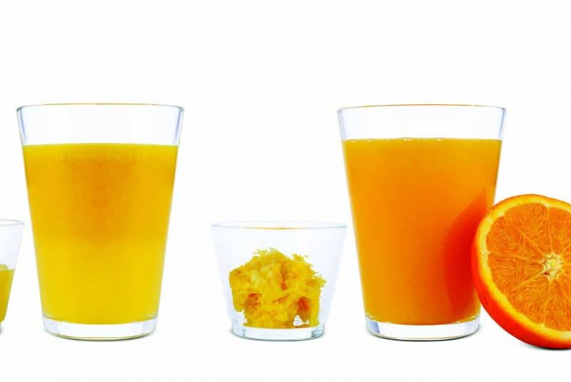 El zumo de fruta pierde la fibra