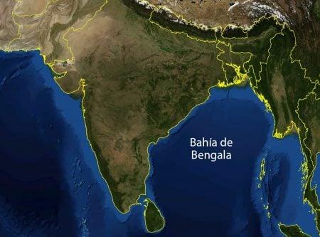Bahía de Bengala - vista satélite