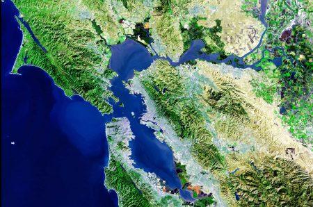 Bahía de San Francisco - vista satélite