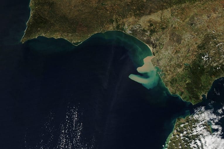 Golfo de Cádiz - vista satélite