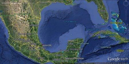 Golfo de México - vista satélite