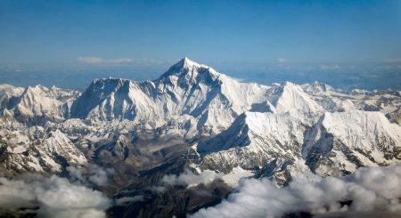 Vista aéra del Everest (cara sur)