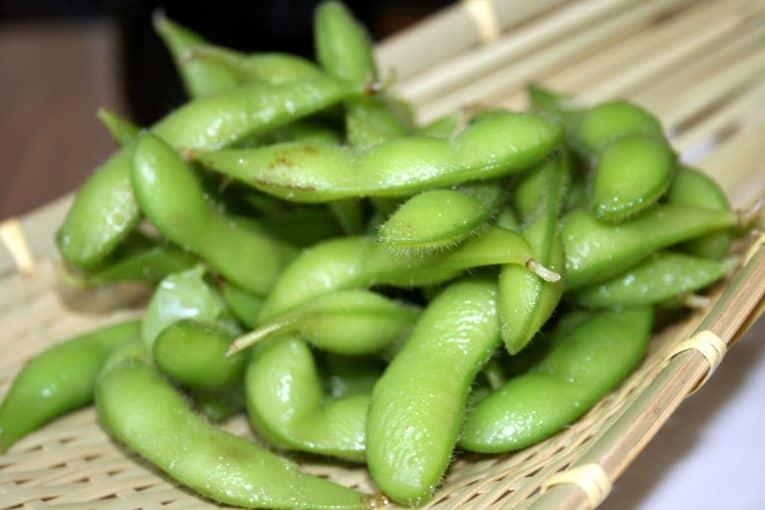 Habas de soja verde