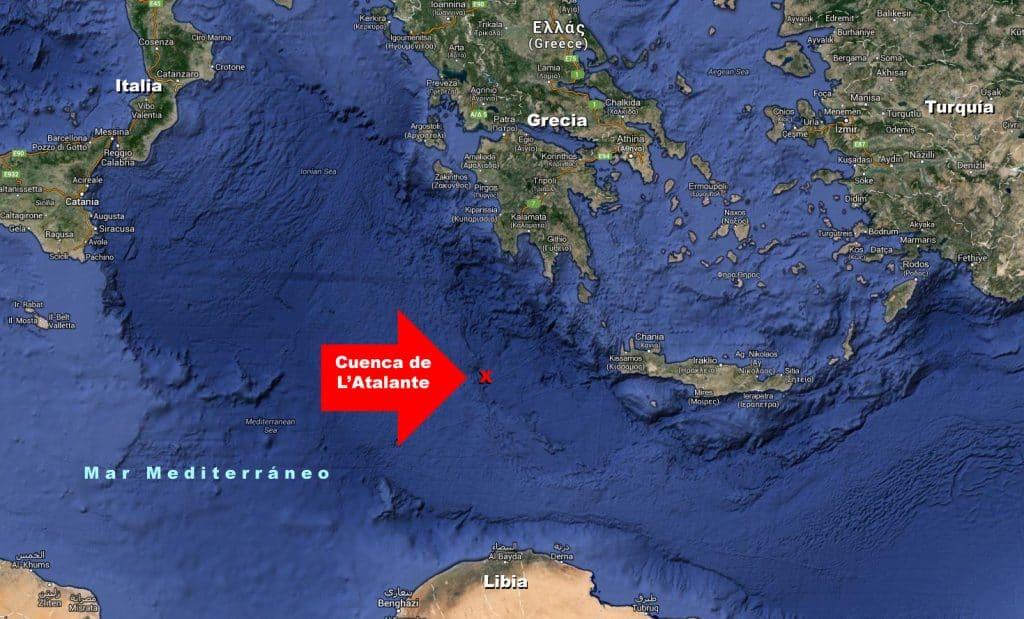 Mapa de la cuenc L'Atalante