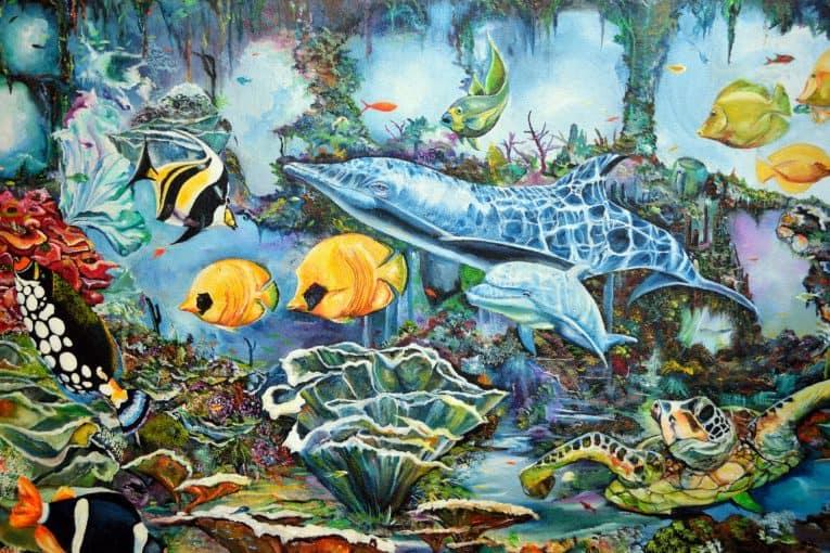 Mural vida acuática
