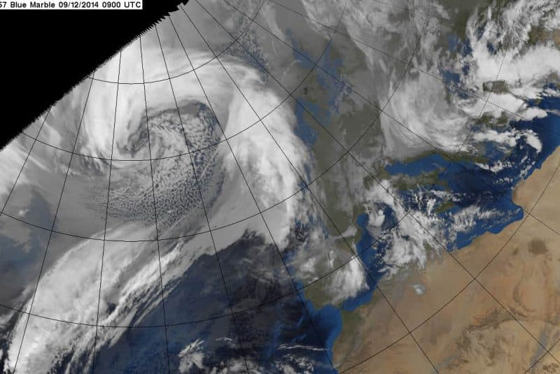 Bomba meteorológica - Vista satélite