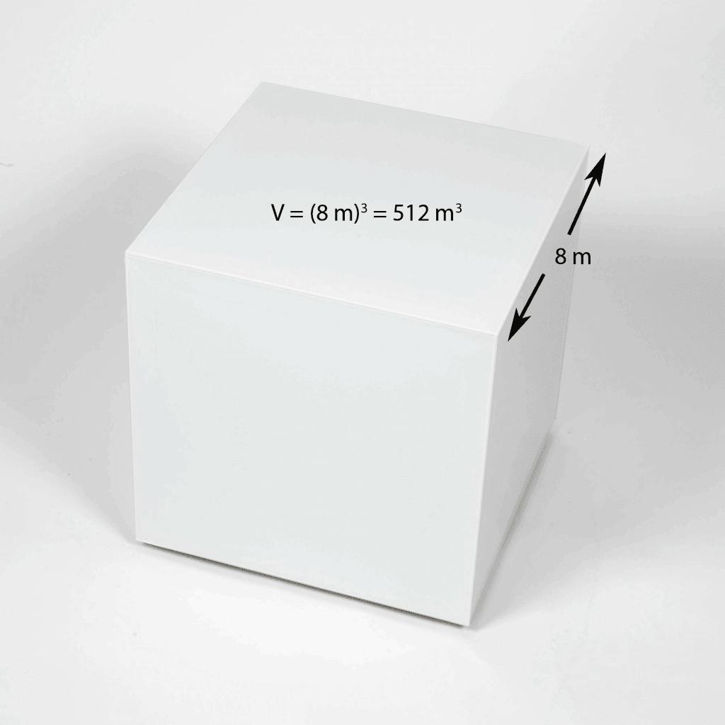 Un cubo y su volumen