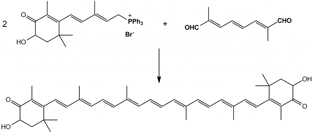 Síntesis de astaxantina mediante reacción de Wittig