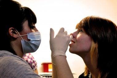 Preparación para un piercing septum nasal