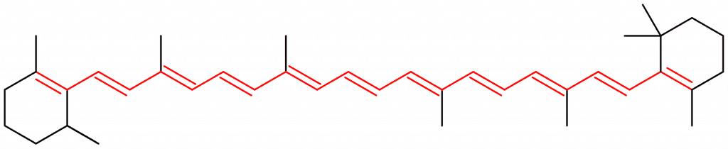Cromóforo en el beta-caroteno