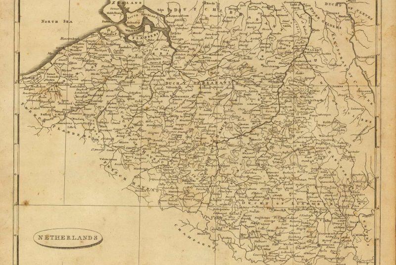 Mapa de Bélgica de 1812