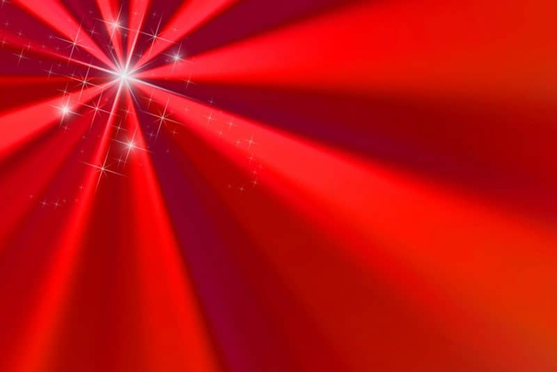 Rayos rojos