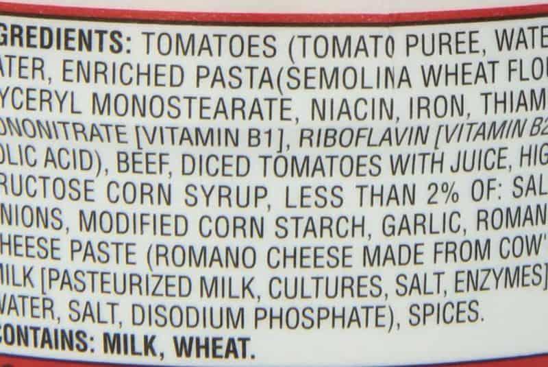 Etiqueta alimento con gliceril monoestearato