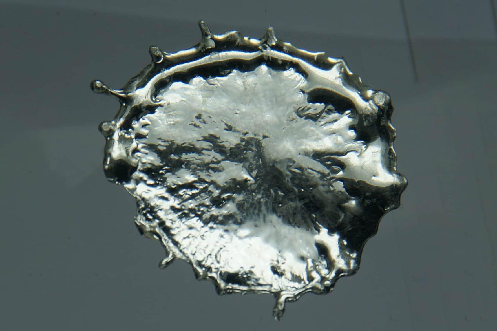 Qu son los metales postransicionales curiosoando gota de estao solidificada urtaz Choice Image
