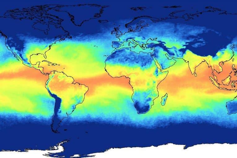 Mapa meteorológico vapor de agua
