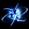 Átomo y electrones (representación)