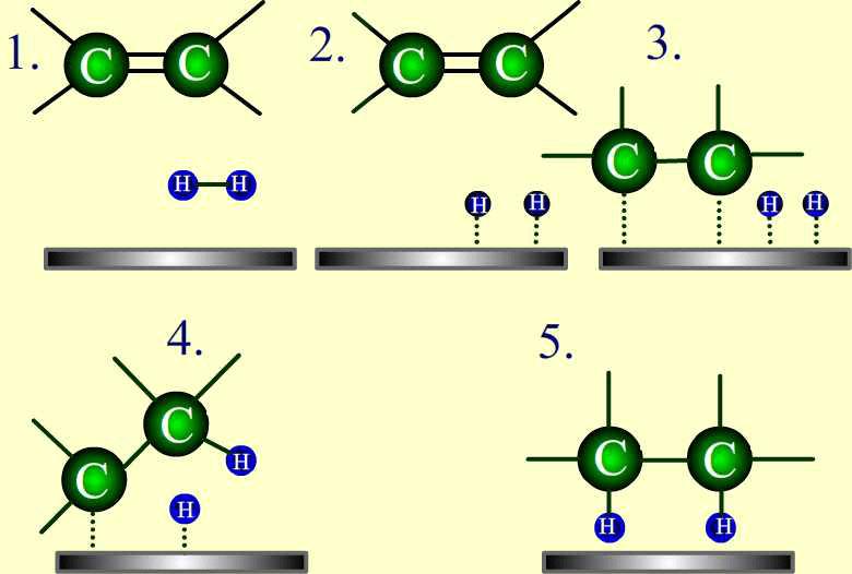 Catálisis metálica de la hidrogenación del etileno