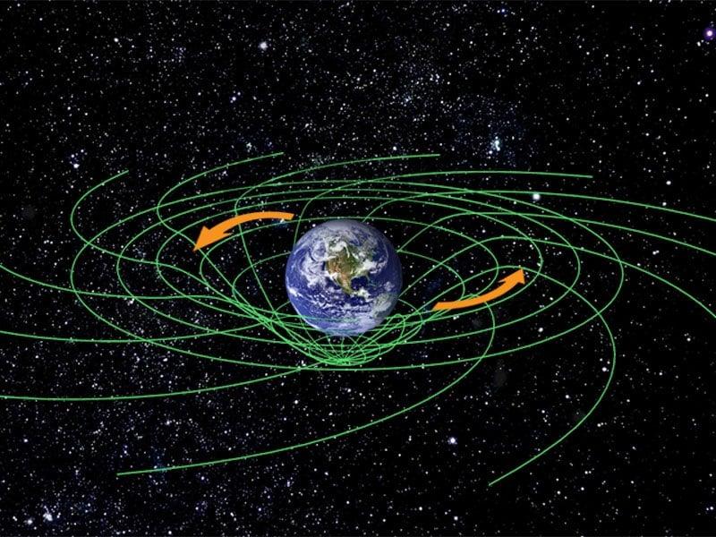 Deformación espacio-tiempo Tierra