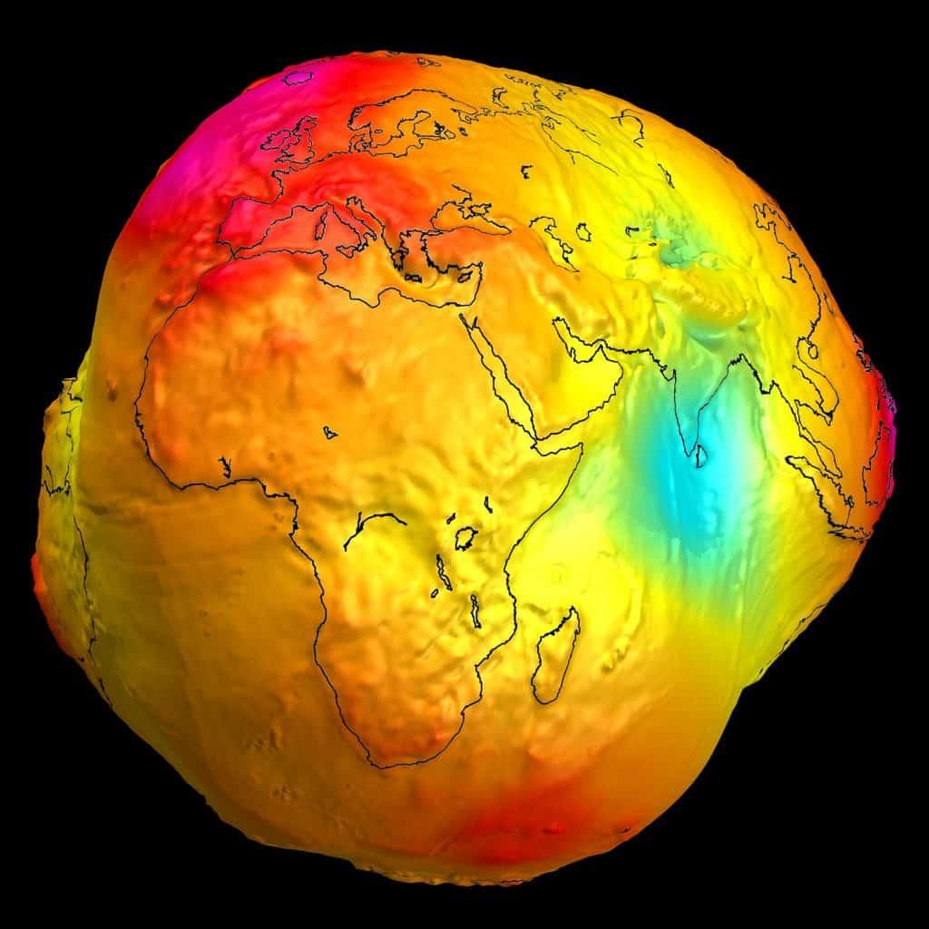 Modelo geodésico gravedad GRACE