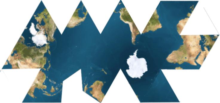 Mapa dymaxion del Océano Mundial