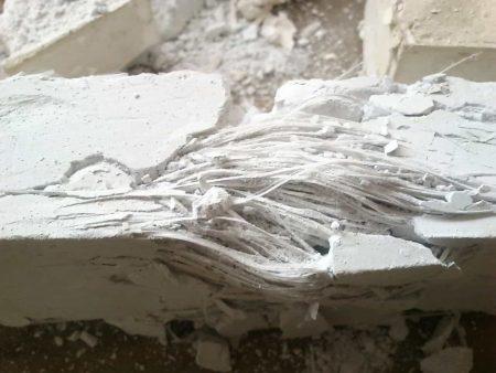 Compuesto de yeso y fibra de vidrio