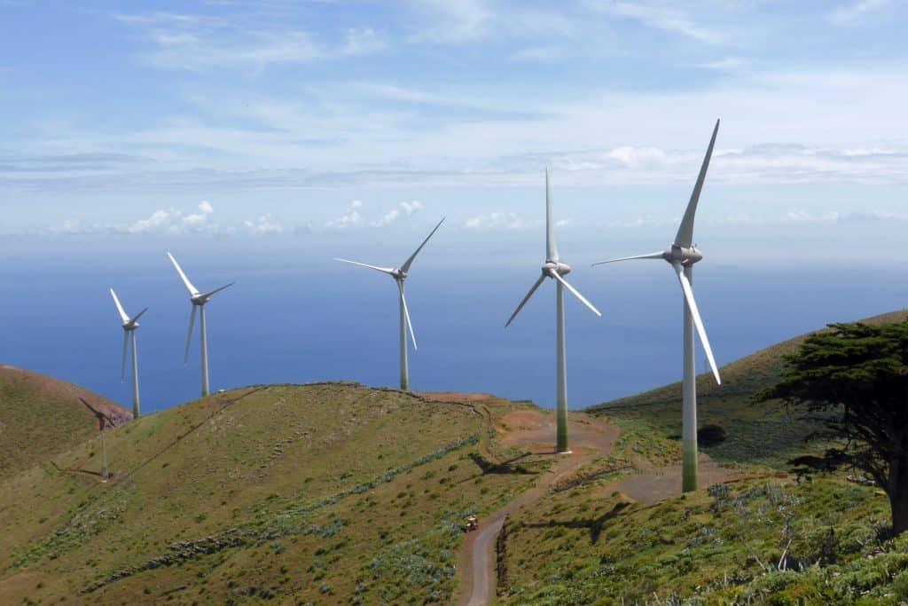 Parque eólico en El Hierro (Islas Canarias)