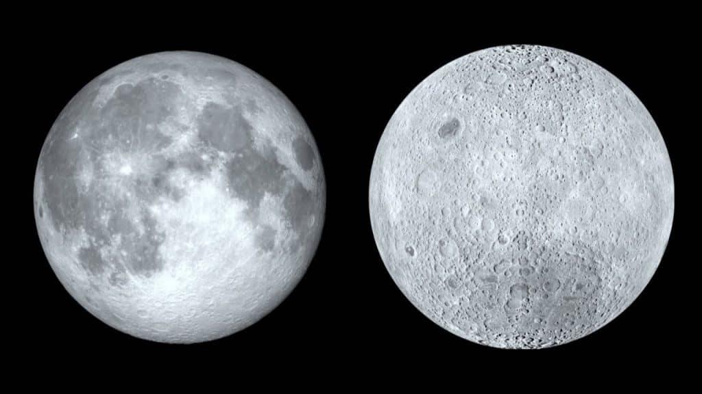 Cara visible y cara oculta de la Luna
