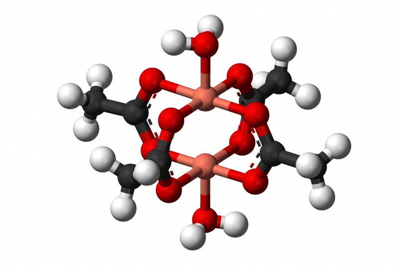 Modelo 3D del acetato de cobre (II)