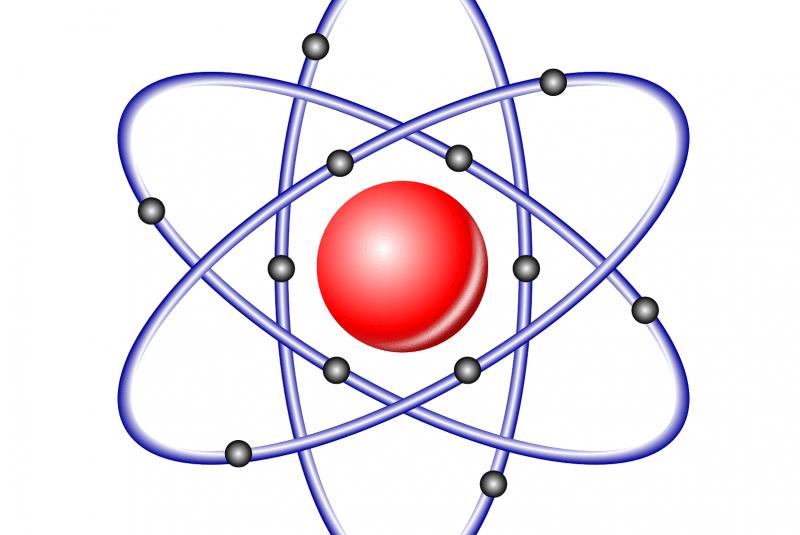 Dibujo de un átomo