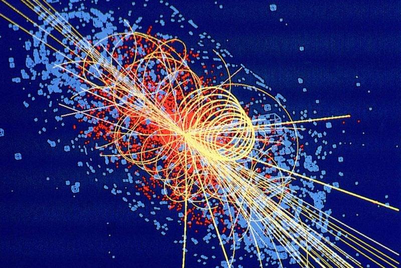 Diagrama de una colisión de partículas (CERN)
